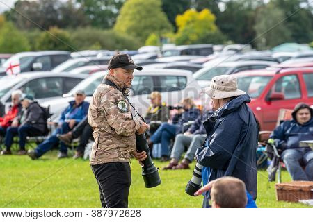 Old Warden, Bedfordshire, Uk, October 6, 2019. Photographer Shooting At An Air Show.race Day At Shut