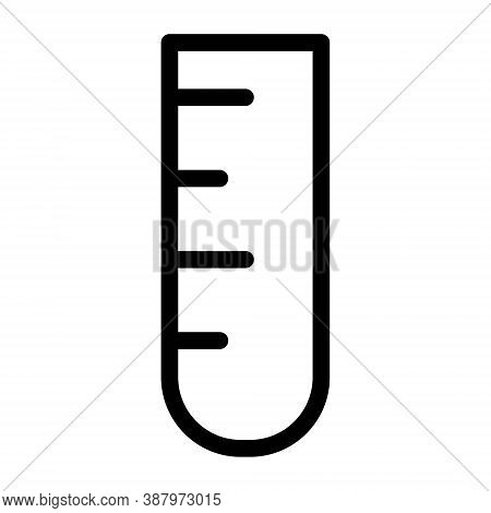 Chemistry Flask Icon. Labaratory Research Sign. Pharmacology, Science Experiment Illustration.