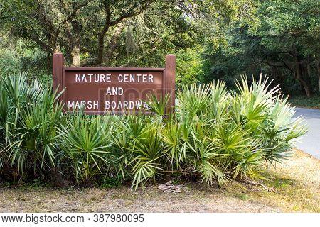 Marsh Center And Nature Boardwalk In Huntington Beach State Park Near Charleston, South Carolina.