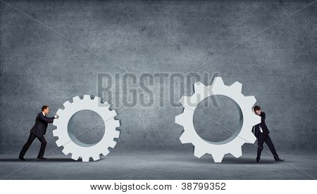 poster of Business innovation creative idea for you over grey background