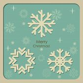 Merry Christmas Greeting Card, vector illustration. poster