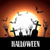 scary halloween vector design illustration poster