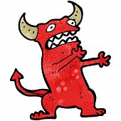 cartoon stressed devil poster
