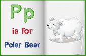 Worksheet teaching a letter and word with picture poster