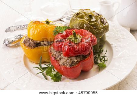 bell peppers stuffed with minced meat