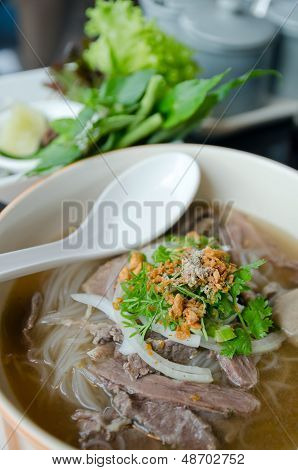 Top Of Pho Lao Style Noodle Soup