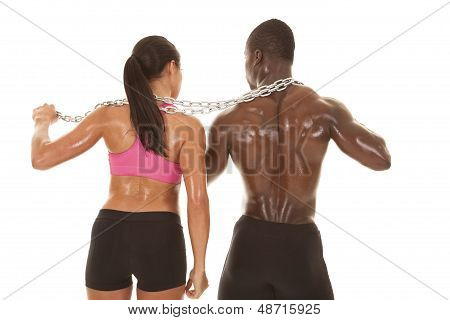 Fitness Couple Back Chain