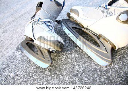 Skate Ice Skates Outdoors Winter