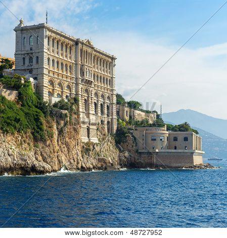 poster of View of Oceanographic Museum of Monaco. Monte Carlo