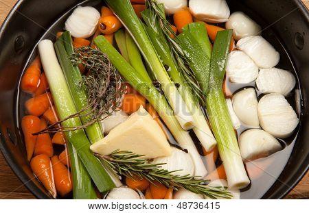 Glazed Vegetables Leek Carrot Cooking