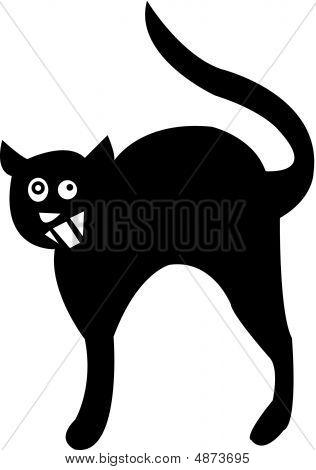 a black cat which is very cheeky and scary poster