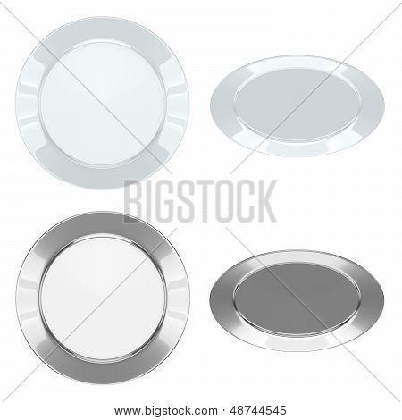 Plates - Set (Ceramic + Metallic)
