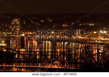 Ohio River Bridges Between Cincinnati And Covington