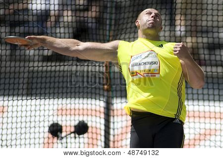 June 14 2009; Berlin Germany. Piotr MALACHOWSKI (POL) competing in the discus at the DKB ISTAF 68 International Stadionfest Golden League Athletics competition.