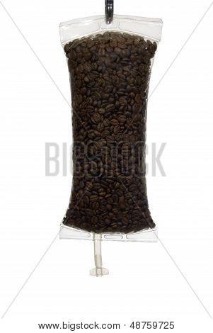 Coffee Iv Beans In Bag Full Frame