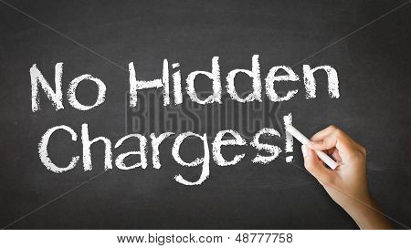 No Hidden Charges Chalk Illustration