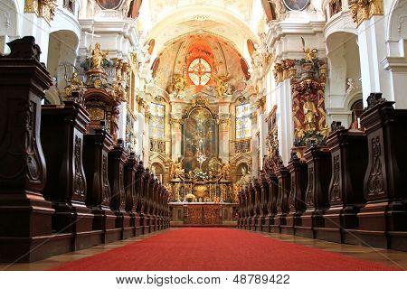 WACHAU, AUSTRIA - AUGUST 2012 : A beautiful Church inside Durnstein Abbey (Stift Durnstein) on August 12, 2012 in Austria.
