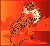 a Japanese tiger which is very wise and noble poster