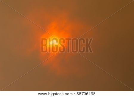 Sun Through Bushfire Clouds