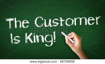 Customer Is King Chalk Illustration