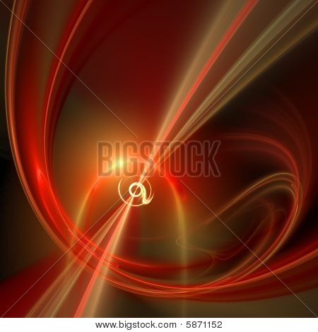 Abstract elegance background. Yellow - red palette. Raster fractal graphics. poster