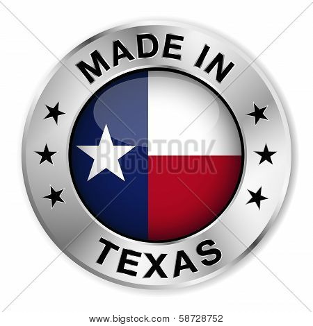 Made In Texas Silver Badge