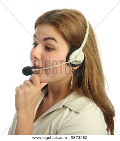 Disbelieving Call Centre Agent