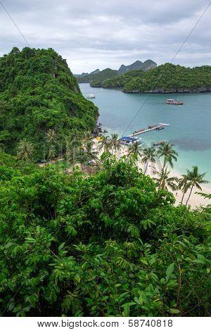 Angthong national marine park close to Koh Samui, Thailand