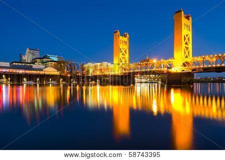 Sacramento California at night