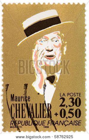 Maurice Chevalier Stamp