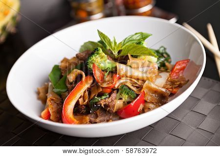 Drunken Noodle Thai Food