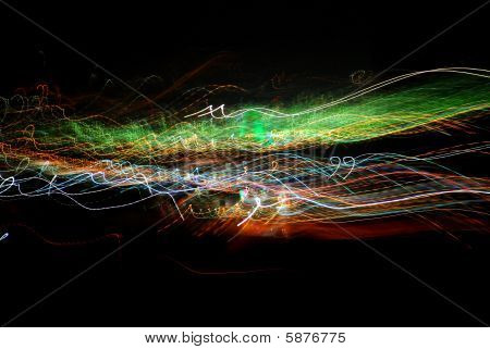 Abstract colorful streaks