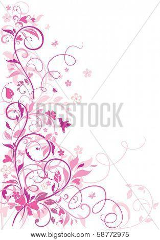 Greeting floral border