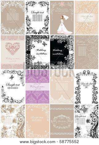 Wedding invitations. Set.