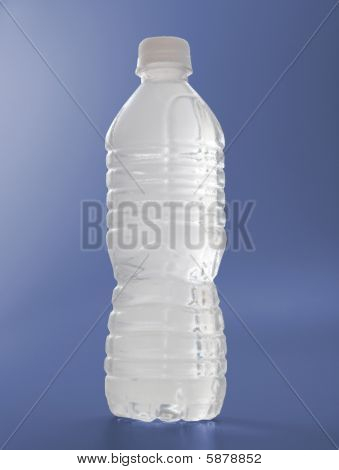 Water Bottle Frosted On Blue colored background