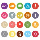 Ecology flat icons on white background stock vector poster