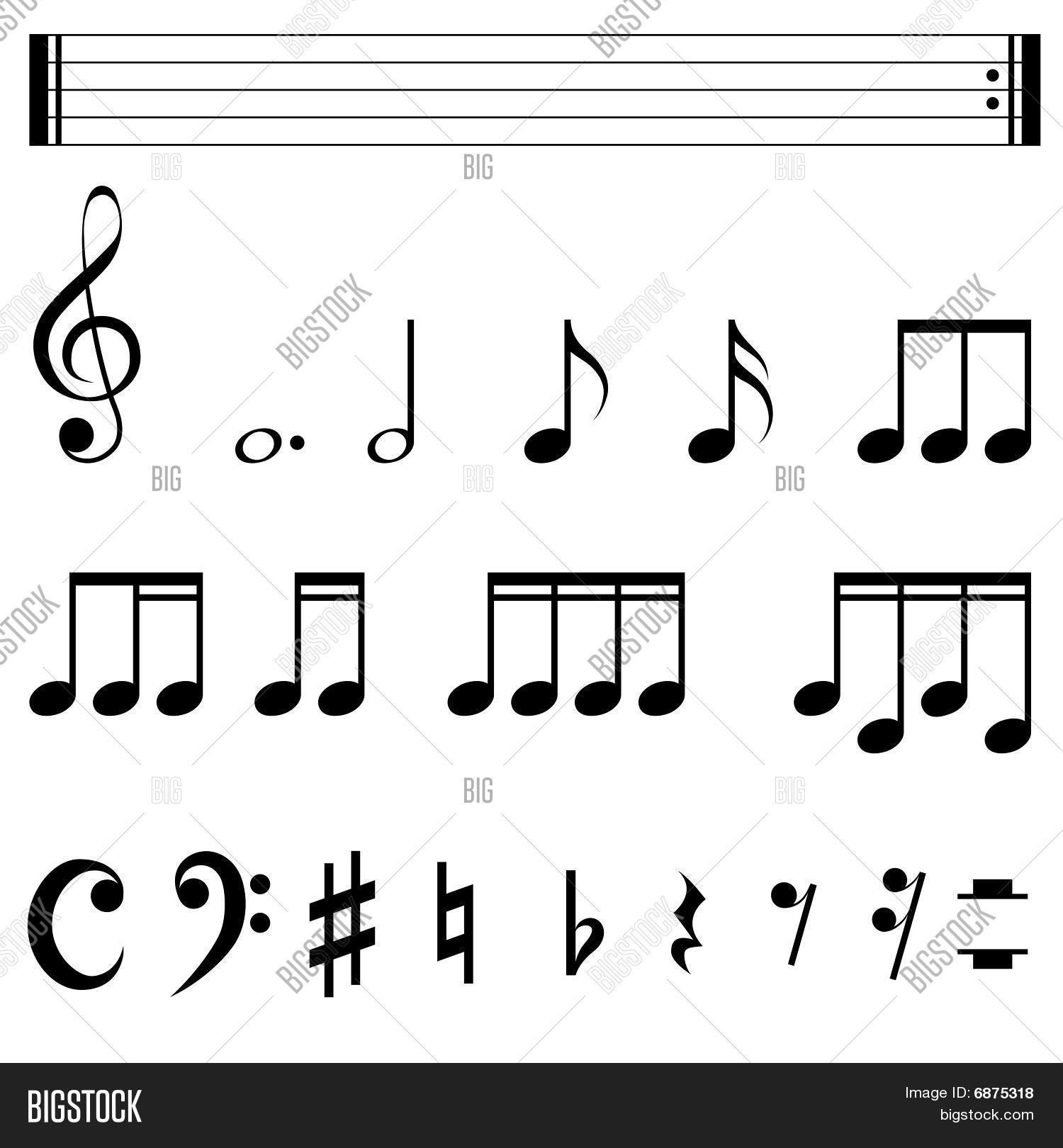 Music Notation Vector Photo Free Trial Bigstock