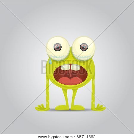 Vector Cartoon cute smiling monster