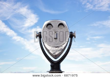 Binocular Viewer On The Beach