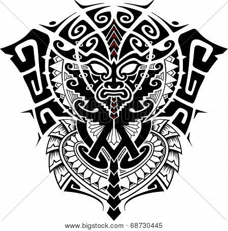 Tribal ancient God vector illustration