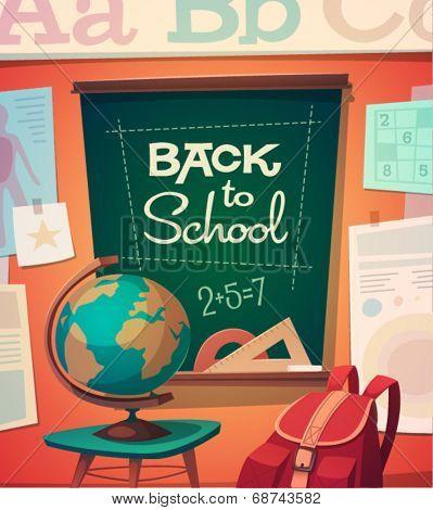 School card \ poster design. Vector illustration