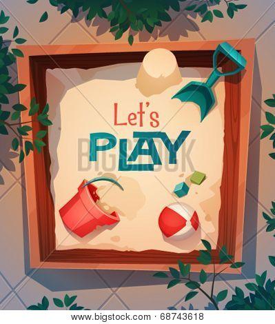 Playground card \ poster design. Vector illustration
