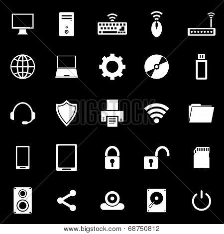 Computer Icons On Black Background