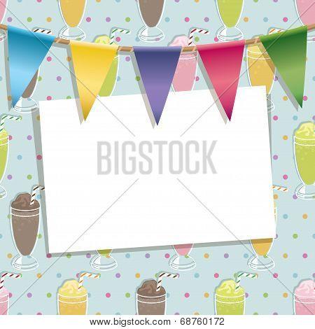 Milkshake Party Card