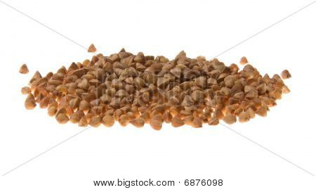 Buckwheat Cereal Isolated On White Background