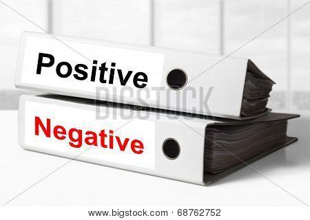 Office Binders Positive Negative