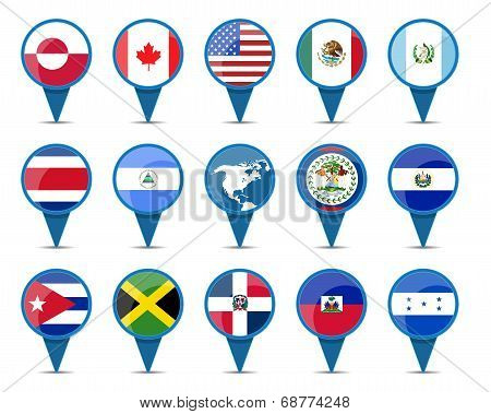 National Flags Of North America