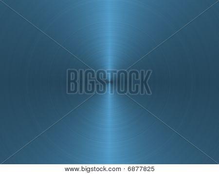Blue Circular Brushed Metal