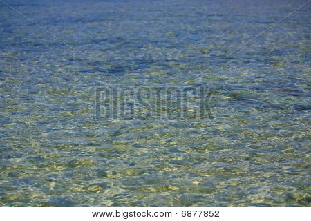This unusual and interesting background represents the surface of the water of the sea. poster