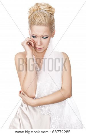 Bride Crying.
